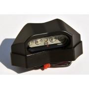 EDP03 LUZ TARGA 4 LED ALU NERO E11