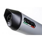 TERMINALE OMOLOGATO CON ATTACCO A VITE (FLANGIATO) HYOSUNG COMET 650 GT - R 2004/14 FURORE ALLUMINIO GPR