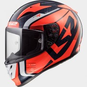 LS2 CASCO INTEGRALE ARROW C EVO FF323 STING Blue Fluo Orange - 103233752