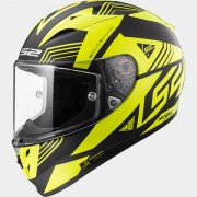 LS2 CASCO INTEGRALE ARROW R EVO FF323 NEON Matt Black / Gloss H-V Yellow - 103232754