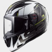 LS2 CASCO INTEGRALE ARROW R EVO FF323 TECHNO White Black - 103233612