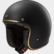 LS2 CASCO DEMI JET BOBBER OF583 SOLID Matt Black - 305831011