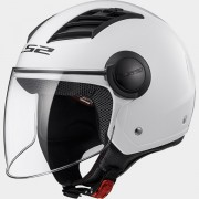 LS2 CASCO JET AIRFLOW L OF562 SOLID White - 305625002