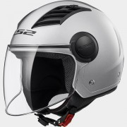 LS2 CASCO JET AIRFLOW L OF562 SOLID Silver - 305625004