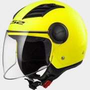 LS2 CASCO JET AIRFLOW L OF562 SOLID Matt H-V Yellow - 305625053