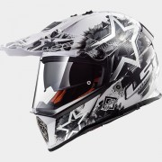 LS2 CASCO OFF ROAD PIONEER MX436 CHAOS White Black - 404362402