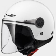 LS2 CASCO JET BAMBINO SOLID OF575J SOLID White - 30575J1002