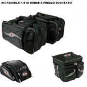 Aprilia Caponord 1000 Borse Laterali + Borsa Serbatoio + Borsa Baule Side Tour Mcp - Universali Con Attacco Cinghia E Magneti M