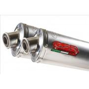 SCARICO GPR COMPATIBILE CAGIVA RAPTOR 1000 2000/03 TERMINALI SCARICO OMOLOG.CON RACCORDO TITANIUM OVAL