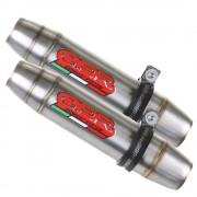 SCARICO GPR BUELL XB 12 2003/07 REVERSE LINE COPPIA SCARICHI OMOLOGATI CON RACCORDO DEEPTONE INOX